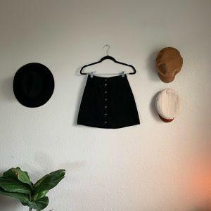Black suede mini skirt 🖤